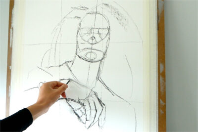 A full portrait course in acrylic paint - sketching