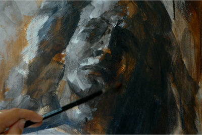 A full portrait course in acrylic paint - facial features