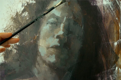 A full portrait course in acrylic paint - color balance