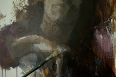 A full portrait course in acrylic paint - details
