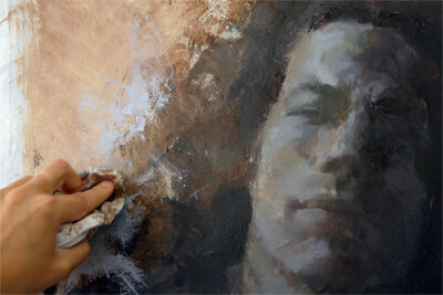 A full portrait course in acrylic paint - final touches