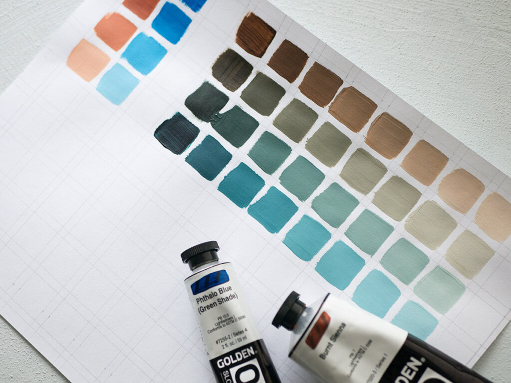 Mixing a limited palette
